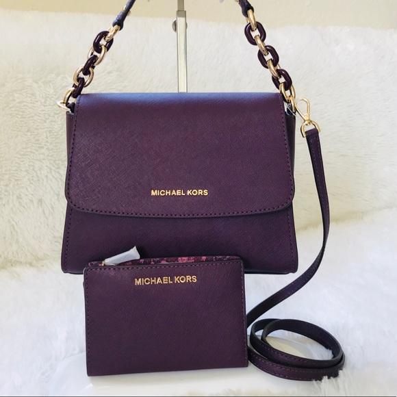 MICHAEL KORS Sofia Portia Satchel Bag and Wallet 52691268ecc35